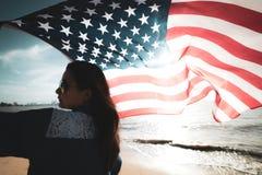 Jour de la Déclaration d'Indépendance des Etats-Unis, le 4 juillet Images stock