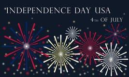 Jour de la Déclaration d'Indépendance des Etats-Unis le 4 juillet 2019 illustration libre de droits