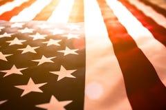 Jour de la Déclaration d'Indépendance des Etats-Unis, le 4 juillet Fermez-vous vers le haut des Etats-Unis d'Amérique Image stock
