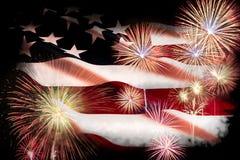 Jour de la Déclaration d'Indépendance des Etats-Unis, le 4 juillet Fermez-vous vers le haut des Etats-Unis d'Amérique Photos stock