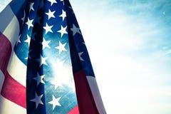 Jour de la Déclaration d'Indépendance des Etats-Unis, le 4 juillet Type de cru Photographie stock libre de droits