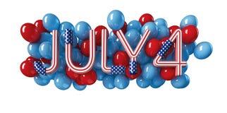Jour de la Déclaration d'Indépendance du 4 juillet Photographie stock
