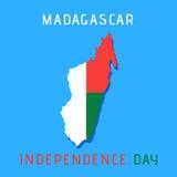 Jour de la Déclaration d'Indépendance du Madagascar Images stock