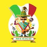 Jour de la Déclaration d'Indépendance du Mexique illustration stock