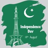 Jour de la Déclaration d'Indépendance du Pakistan Image libre de droits