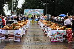 Jour de la Déclaration d'Indépendance du ` s de l'Ukraine Photographie stock