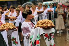 Jour de la Déclaration d'Indépendance du ` s de l'Ukraine Photo libre de droits