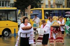 Jour de la Déclaration d'Indépendance du ` s de l'Ukraine Photos stock
