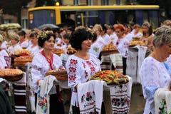 Jour de la Déclaration d'Indépendance du ` s de l'Ukraine Images libres de droits