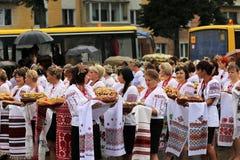 Jour de la Déclaration d'Indépendance du ` s de l'Ukraine Image libre de droits