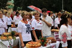Jour de la Déclaration d'Indépendance du ` s de l'Ukraine Photo stock