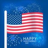 Jour de la Déclaration d'Indépendance Etats-Unis Images libres de droits