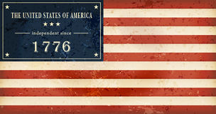 Jour de la Déclaration d'Indépendance Etats-Unis Images stock