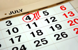 Jour de la Déclaration d'Indépendance Etats-Unis le 4 juillet Photographie stock