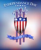 Jour de la Déclaration d'Indépendance fond du 4 juillet Photo libre de droits