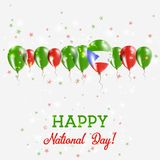 Jour de la Déclaration d'Indépendance de la Guinée équatoriale miroitant Images stock