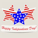 Jour de la Déclaration d'Indépendance heureux illustration libre de droits