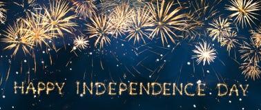 Jour de la Déclaration d'Indépendance heureux Photographie stock libre de droits