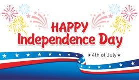Jour de la Déclaration d'Indépendance heureux illustration stock