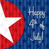 Jour de la Déclaration d'Indépendance heureux ! Photographie stock libre de droits