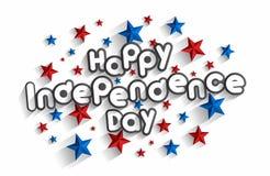 Jour de la Déclaration d'Indépendance heureux illustration de vecteur