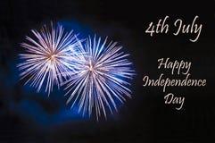 Jour de la Déclaration d'Indépendance heureux Images stock