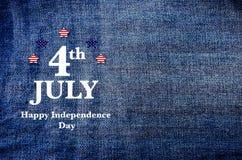 Jour de la Déclaration d'Indépendance heureux de l'Amérique Photographie stock libre de droits