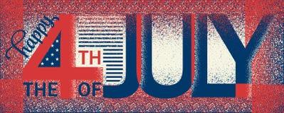Jour de la Déclaration d'Indépendance heureux Etats-Unis Du quatrième vecteur juillet illustration stock