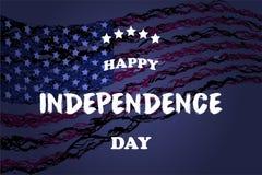 Jour de la Déclaration d'Indépendance heureux de jpg d'illustration de vecteur des Etats-Unis d'Amérique Photo stock