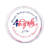 Jour de la Déclaration d'Indépendance heureux 4 juillet quatrième Vecteur - mémorial Indicateur Patriotique célébrez Photo stock