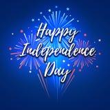 Jour de la Déclaration d'Indépendance heureux le 4ème juillet Image libre de droits