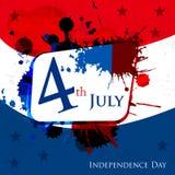 Jour de la Déclaration d'Indépendance heureux le 4ème juillet Photographie stock