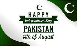 Jour de la Déclaration d'Indépendance heureux Pakistan Images libres de droits