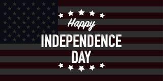 Jour de la Déclaration d'Indépendance heureux quatrième de vecteur de juillet illustration de vecteur