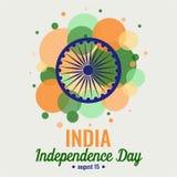 Jour de la Déclaration d'Indépendance d'Inde Image stock
