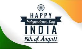 Jour de la Déclaration d'Indépendance d'Inde Images stock