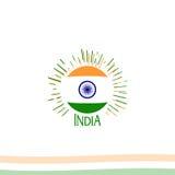 Jour de la Déclaration d'Indépendance d'Inde du signe d'isolat d'Empire Britannique du rétro logotype de style de vecteur Univers illustration stock