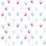 Jour de la Déclaration d'Indépendance indiqué uni Modèle de baloon d'aquarelle pour le 4ème juillet Conception pour la copie, car illustration stock
