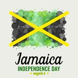 Jour de la Déclaration d'Indépendance de la Jamaïque Image stock