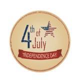 Jour de la Déclaration d'Indépendance 4 juillet Photos stock