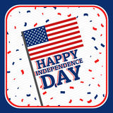 Jour de la Déclaration d'Indépendance - 4 juillet Photos libres de droits