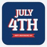 Jour de la Déclaration d'Indépendance - 4 juillet Photo libre de droits