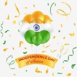 Jour de la Déclaration d'Indépendance de l'Inde Images stock