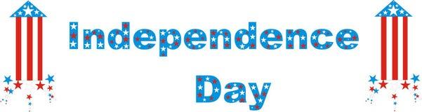 Jour de la Déclaration d'Indépendance le quatrième juillet Photos libres de droits