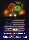 Jour de la Déclaration d'Indépendance uni d'état Image stock
