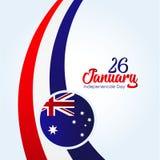 Jour de la D?claration d'Ind?pendance d'Australie illustration stock