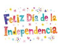 Jour de la D?claration d'Ind?pendance heureux dans l'Espagnol illustration libre de droits
