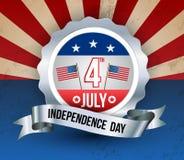 Jour de la Déclaration d'Indépendance heureux Image libre de droits