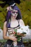 Jour de la fille morte de Goth Images stock