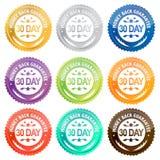 Jour de la garantie 30 de dos d'argent Photo libre de droits